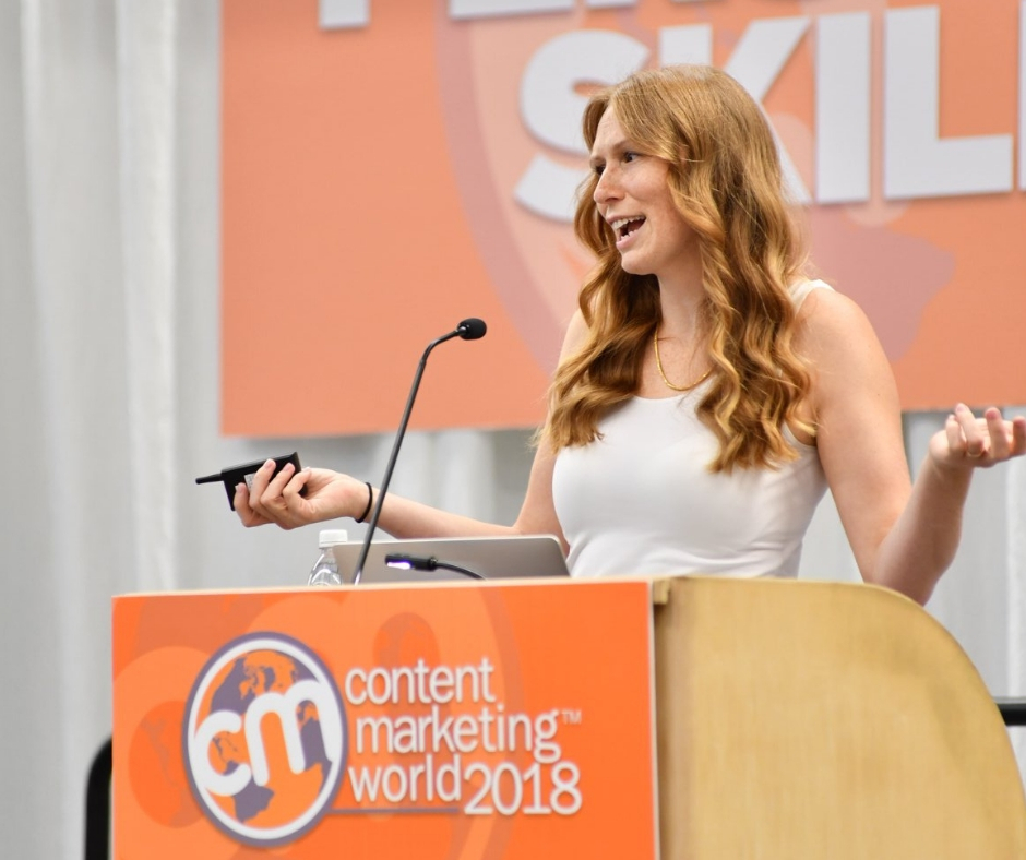 Casandra Campbell speaking at #CmWorld 2018
